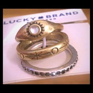 LUCKY BRAND TWO TONE STACKABLE RINGS